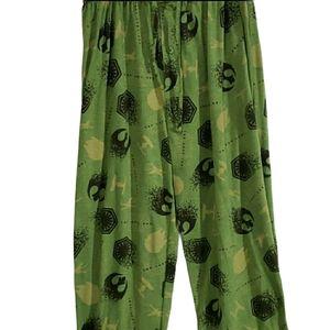 3/$15 STARWARS The Last Jedi Green Pajama Pants